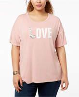 True Vintage Plus Size Embellished Love T-Shirt