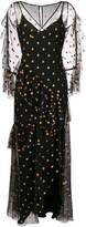 Temperley London glitter detail maxi dress
