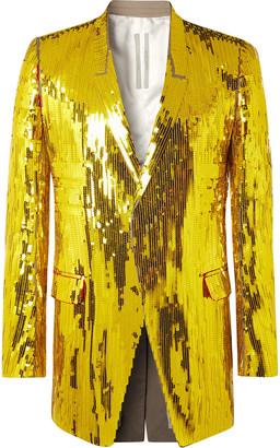 Rick Owens Tatlin Sequinned Cotton Blazer