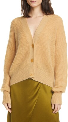 Vince Open Stitch Front Button Cardigan