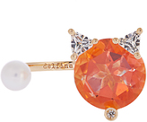 Delfina Delettrez Diamond, topaz, pearl & yellow-gold ring