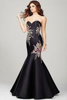 Jovani Sweetheart Neck Floral Mermaid Dress 33689