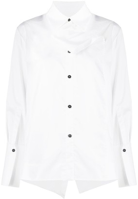 Eudon Choi Draped-Front Long Sleeved Shirt