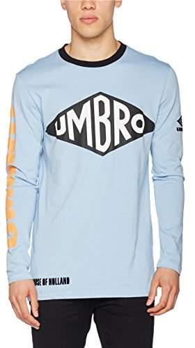 House of Holland Men's Umbro Long Sleeve T-Shirt Regular Fit Crew Neck Long Sleeve Casual Shirt,Medium
