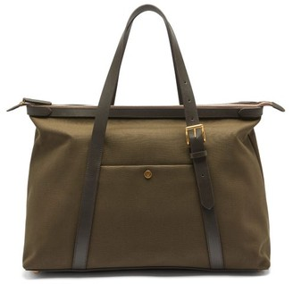 Mismo - Avail Canvas & Leather Tote Bag - Dark Brown