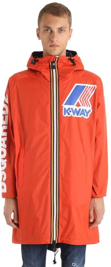 DSQUARED2 K-Way Reversible Nylon Rain Coat