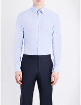 Gieves & Hawkes Gieves & Hawkes Micro Check Tailored-fit Cotton Shirt