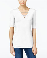 INC International Concepts Petite Strappy V-Neck Top, Only at Macy's