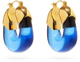 Lizzie Fortunato Organic Gold-plated Hoop Earrings - Blue Gold
