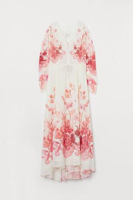 H&M Long Chiffon Dress - Red