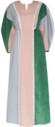 Masterpeace Polka Dot Panelled Maxi Dress