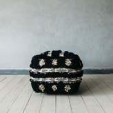 Graham and Green Black And Gold Benazir Pouffe