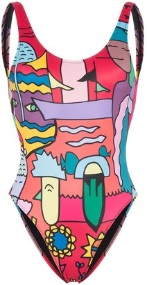 Ellie Rassia Lily printed swimsuit