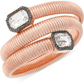 Vince Camuto Rose Gold-Tone Coiled Crystal Bracelet