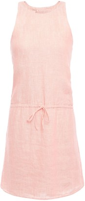 Joie Cutout Melange Linen Mini Dress