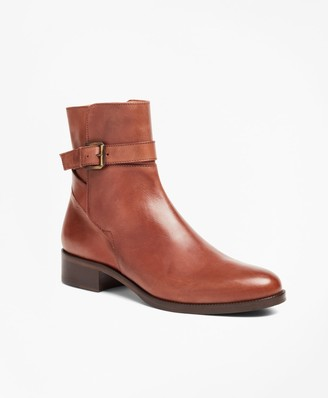 Brooks Brothers Leather Ankle Boots