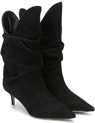 ATTICO Tate suede ankle boots