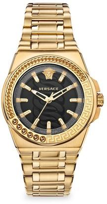 Versace Chain Reaction Goldtone Bracelet Watch