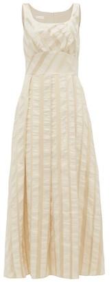 Carl Kapp - Lyria Striped Jacquard Midi Dress - Cream Multi