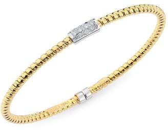 Bagutta Alberto Milani Via 18K Gold & Diamond Coiled Bangle Bracelet