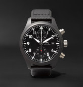 IWC SCHAFFHAUSEN Pilot's Chronograph TOP GUN 44mm Ceramic and Leather Watch