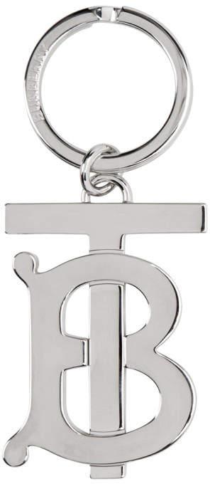 Burberry Silver Monogram Motif Keyring