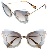 Miu Miu Women's 63Mm Butterfly Sunglasses - Gold/ Azure