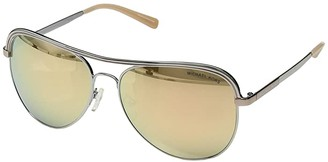 Michael Kors 0MK1012 (Shiny Silver/New Liquid Rose Gold) Fashion Sunglasses