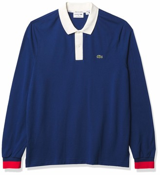 Lacoste Men's Long Sleeve Made in France Semi-Fancy Pique Polo Shirt