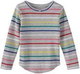 Joe Fresh Toddler Girls' Stripe Waffle Tee, Navy (Size 3)