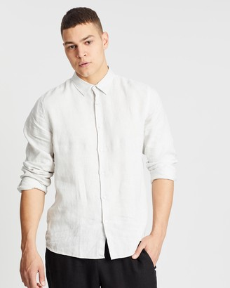 Assembly Label Casual Long Sleeve Linen Shirt