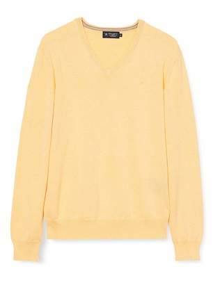 Hackett Men's Cotton Silk V Neck Jumper