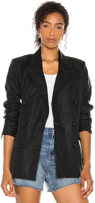 Blank NYC Vegan Leather Blazer