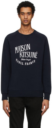 MAISON KITSUNÉ Navy Palais Royal Sweatshirt