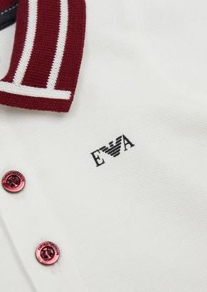 Emporio Armani Pique Polo Shirt With Contrasting Collar