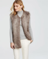 Ann Taylor Faux Fur Long Vest