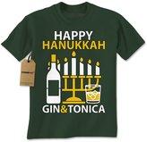 Expression Tees Mens Gin and Tonica Happy Chanukha T-Shirt