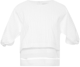 MSGM Embossed Cotton Jacquard Top