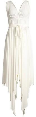 Norma Kamali Goddess Handkerchief Maxi Dress