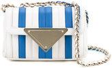 Sara Battaglia striped mini shoulder bag - women - Calf Leather - One Size