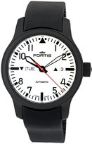 Fortis Men's 655.18.12 K Nocturnal Analog Display Automatic Self Wind Black Watch