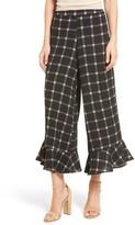 Mimichica Women's Mimi Chica Ruffle Hem Crop Pants