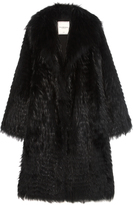 Pologeorgis The Feather Black Fur Coat