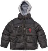 U.S. Polo Assn. Black Camo Puffer Coat - Toddler & Boys