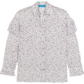 MiH Jeans Baylis Ruffled Floral-print Cotton-voile Shirt