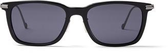 Jimmy Choo RYAN Grey Acetate Square Sunglasses with Matte Titanium Temples