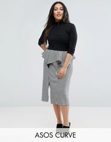 Asos Gingham Pencil Skirt