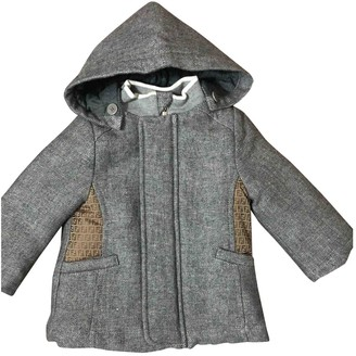 Fendi Grey Linen Jackets & Coats