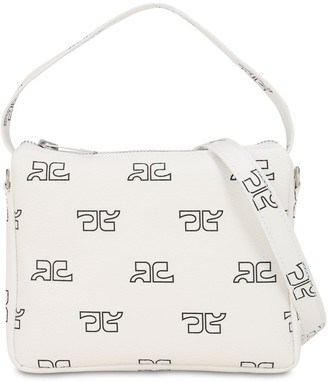 Courreges Monogram Print Techno Shoulder Bag