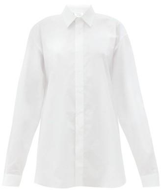 Vetements Oversized Cotton-poplin Shirt - White